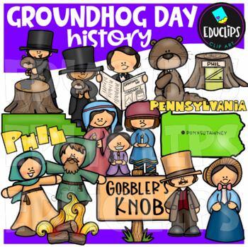 Groundhog Day History Clip Art Bundle {Educlips Clipart}