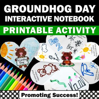 Groundhog Day Craft Interactive Notebook Activity