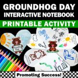 Foldable Groundhog Day Craft Activity