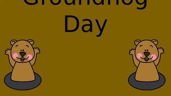 Interactive Slides Groundhog Day Math & Phonics