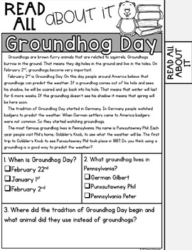 Groundhog Day Activities