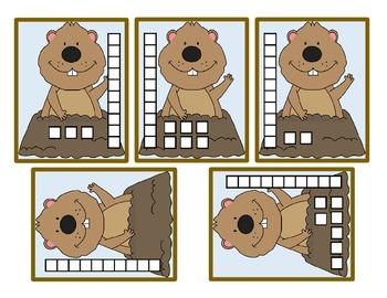 Groundhog Day Kindergarten Write the Room Center Teen Numbers Place Value Blocks