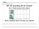 Groundhog Day Kindergarten Writing and Graphing Activities