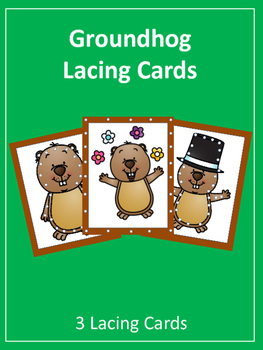 Groundhog Day Lacing Cards