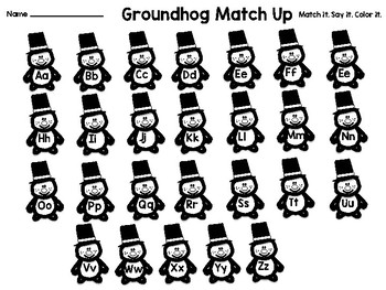 Groundhog Day Letter ID Match