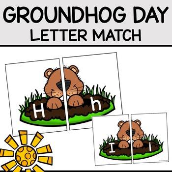 Groundhog Day Letter Match