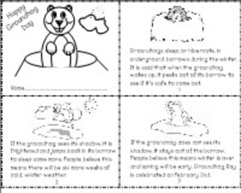 Groundhog Day Literacy, Craftivity, and Predicting PDF