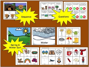 Groundhog Day:  Literacy, Language and Listening Activities Pack