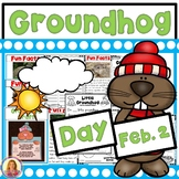Groundhog Day! Literacy, Math, Informative Slides, and a Craft