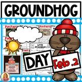 Groundhog Day! Literacy, Math, Informative Slides, and a Craft