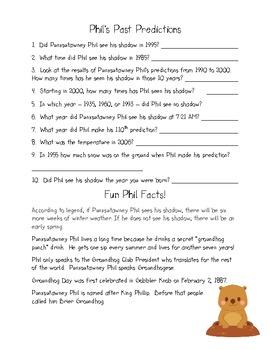 Groundhog Day Literacy Unit