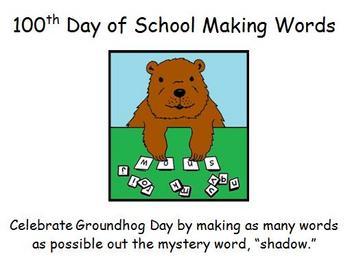 Groundhog Day Making Words
