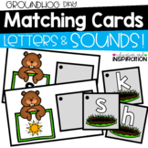 Groundhog Day Matching Cards for Letters and Sounds by Education and Inspiration