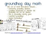 Groundhog Day Math Activities