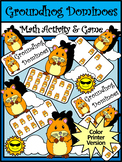 Groundhog Day Math Activities: Groundhog Day Dominoes Math Game Activity - Color