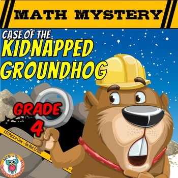 Groundhog Day Math Mystery Activity  (4th Grade)