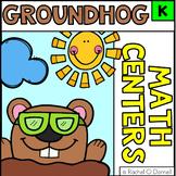 Groundhog Day Math Centers Kindergarten