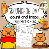 Groundhog Day Math Count and Trace 1 - 20