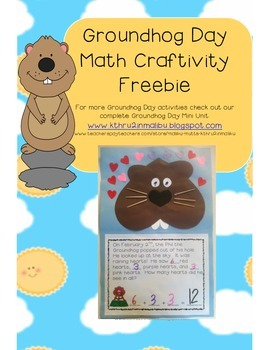 Groundhog Day Math Craftiity Freebie!!!