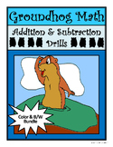Groundhog's Day Activities: Groundhog Math Drills Addition & Subtraction
