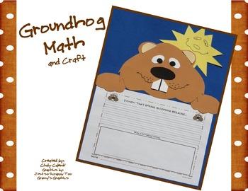 Groundhog Day Math Fun and Craft (Kindergarten-2nd Grade)