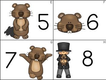 Groundhog Day Math & Literacy Stations BUNDLE