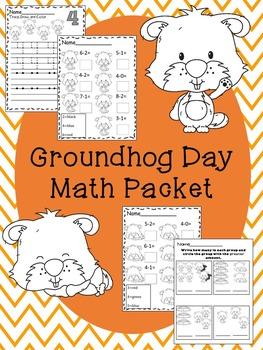 Groundhog Day Math Packet
