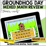 Groundhog Day Math Review BOOM Cards™