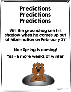 Groundhog Day Math Surveys, Tally Marks, Graphs, Interactive, Draw Conclusions