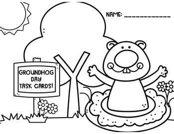 Groundhog Day Math Task Cards!