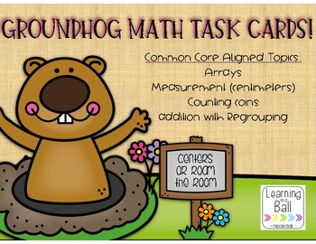 Groundhog Day Math Task Cards!