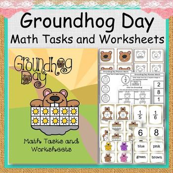Groundhog Day Math Tasks and Worksheets