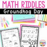 Groundhog Day Math Worksheets