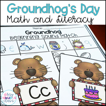 Groundhog Day Math and Literacy Centers and Printables