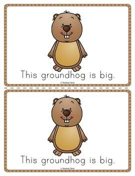 Groundhog Day Worksheets Emergent Reader Task Cards