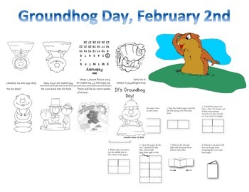 Groundhog Day Mini Book