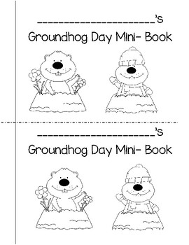 Groundhog Day Mini-Book