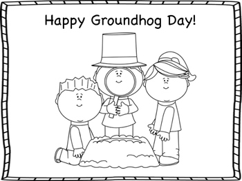 Groundhog Day Mini Book and Coloring Pages