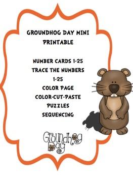 Groundhog Day Mini Printable