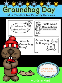 Groundhog Day Mini-Readers for Primary