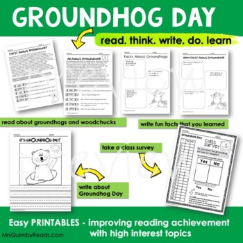 Groundhog Day | Reading-Writing | Literacy Activity