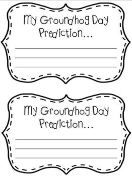 Groundhog Day Mini Writing Craftivity & Graph!