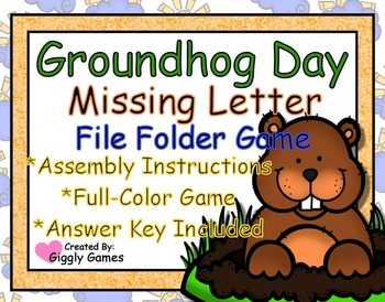 Groundhog Day Missing Letter File Folder Game