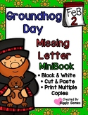Groundhog Day Missing Letters Cut & Paste Mini Book