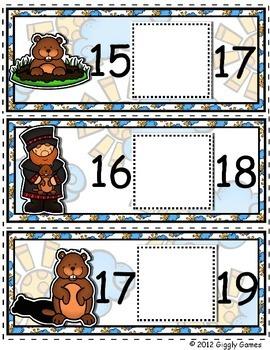 Groundhog Day Missing Number Envelope Center