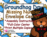 Groundhog Day Missing Number Envelope Center