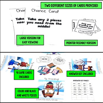 Groundhog Day Activities - Multi-Digit Addition Game