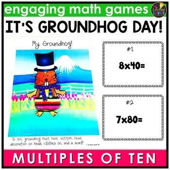 Groundhog Day Multiples of Ten Game
