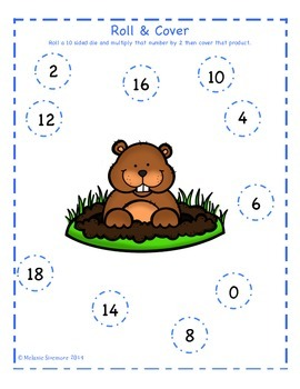 Groundhog Day Multiplication Roll and Cover