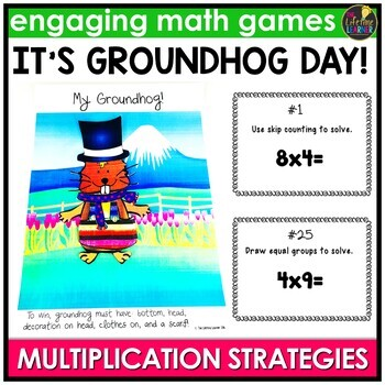 Groundhog Day Activities - Multiplication Strategies Game